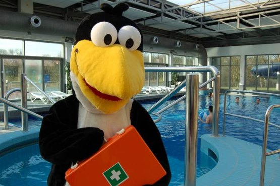 Rettet Fridolin - Das Wasserrettungsprogramm mit Pinguin Maskottchen