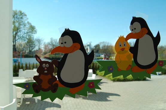 Es muss ja nicht immer ein Häschen sein. Warum nicht mal ein Pinguin.