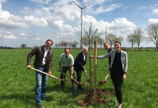 Letzter Baum für Streuobstwiese wird gepflanzt